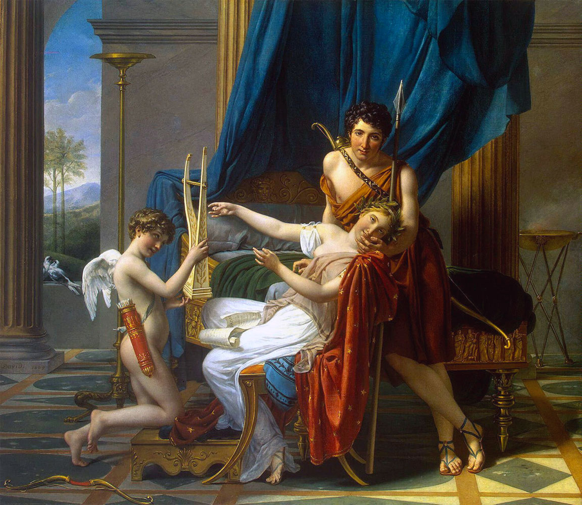 Saffo e Faone - quadro - Sappho and Phaon - picture