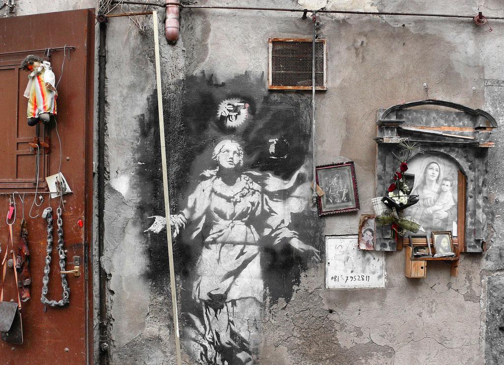 Banksy - Madonna con la pistola