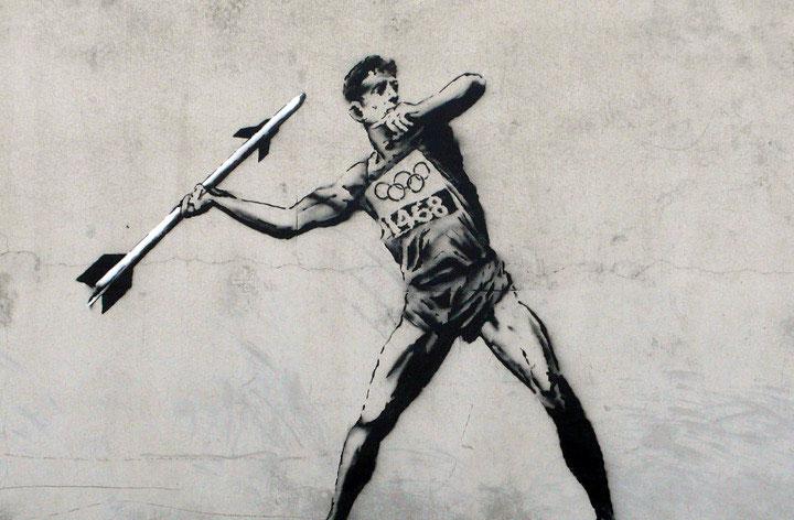 Banksy - Olimpiadi Londra 2012 - lancio