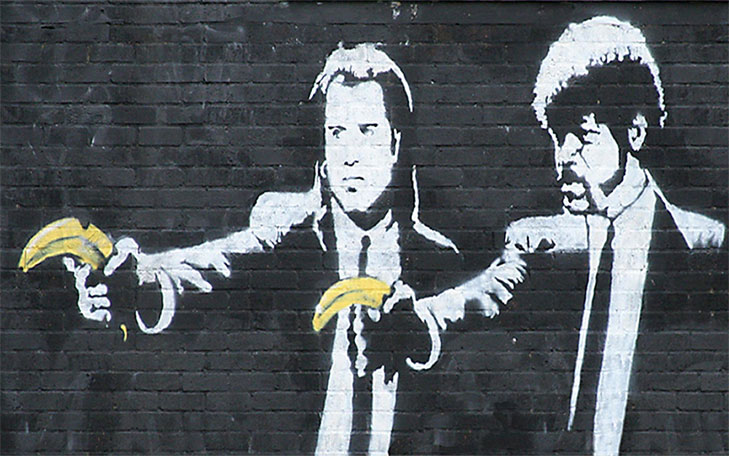 Banksy - Pulp Fiction - scena - scene