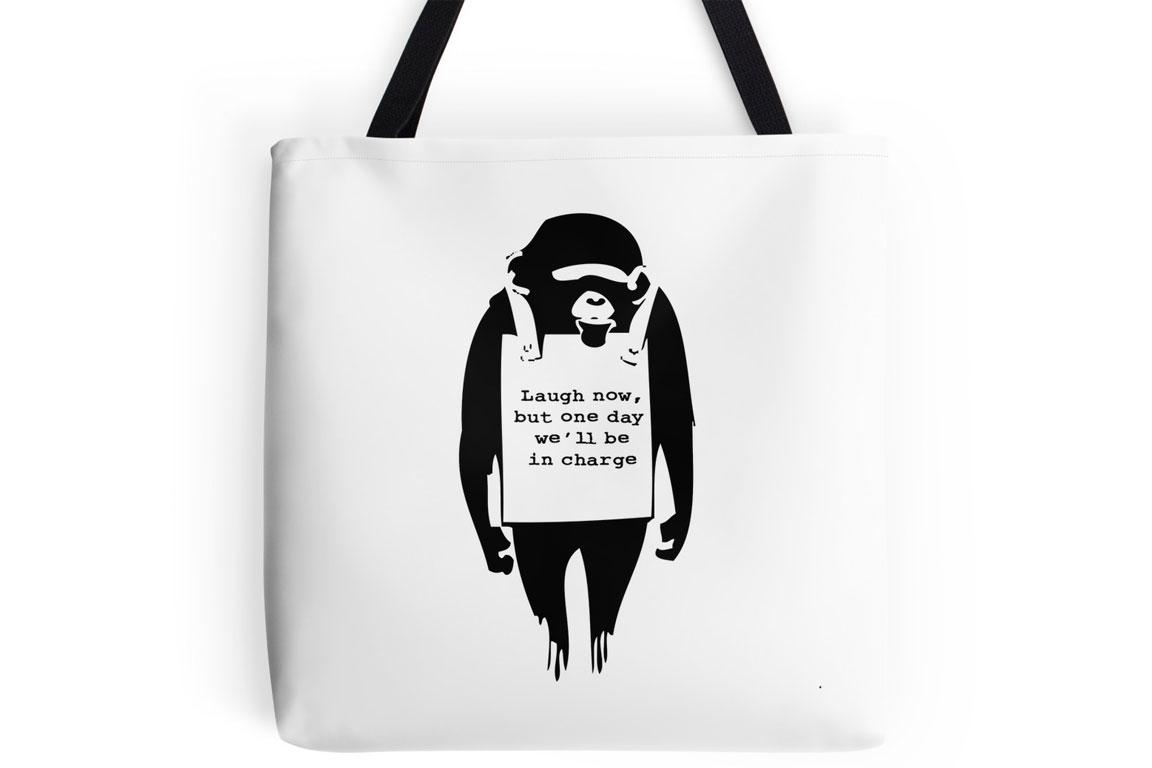 Banksy - Scimmia - Monkey - Laugh now