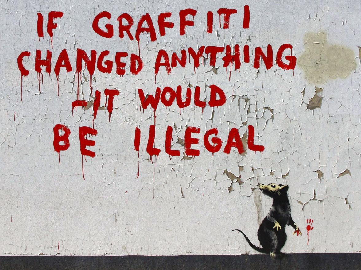 Banksy - Topi - Rats - Graffiti