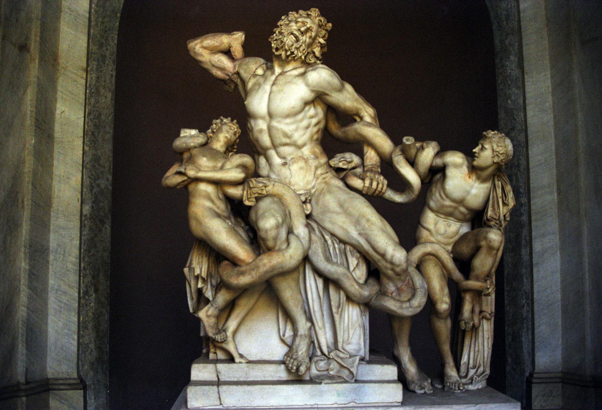 'Laocoonte e i suoi figli'', Agesandro, Atanodoro e Polidoro, marmo, I d.C., Musei Vaticani