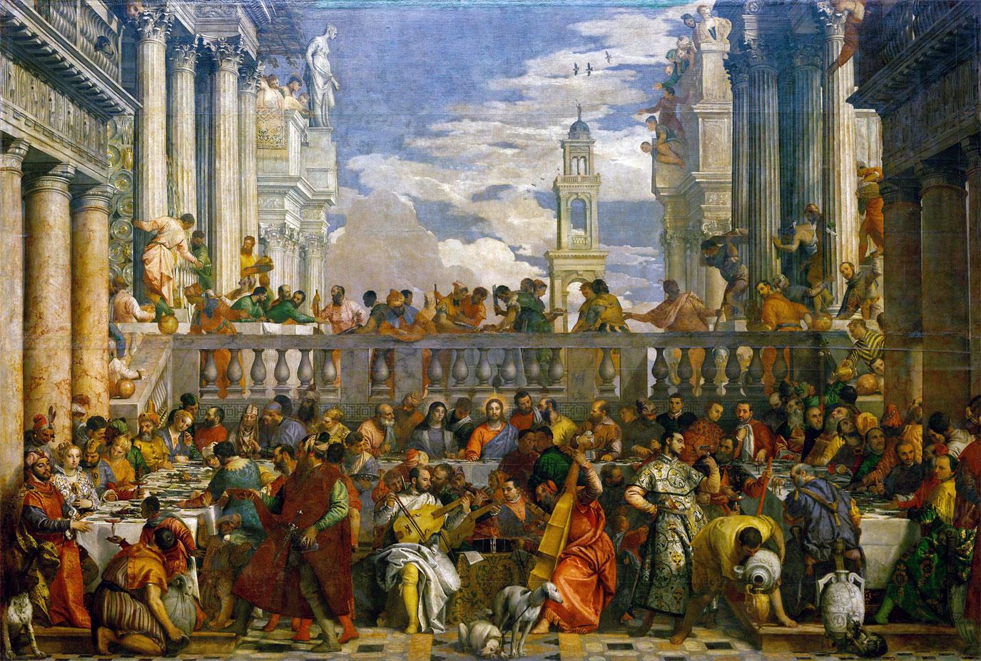 Le nozze di Cana - quadro Veronese