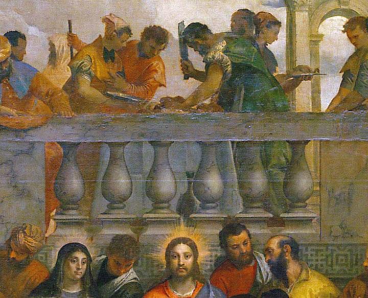 Le nozze di Cana - quadro - dettaglio macellaio