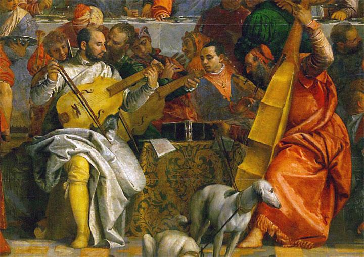 Le nozze di Cana - quadro - dettaglio musicisti