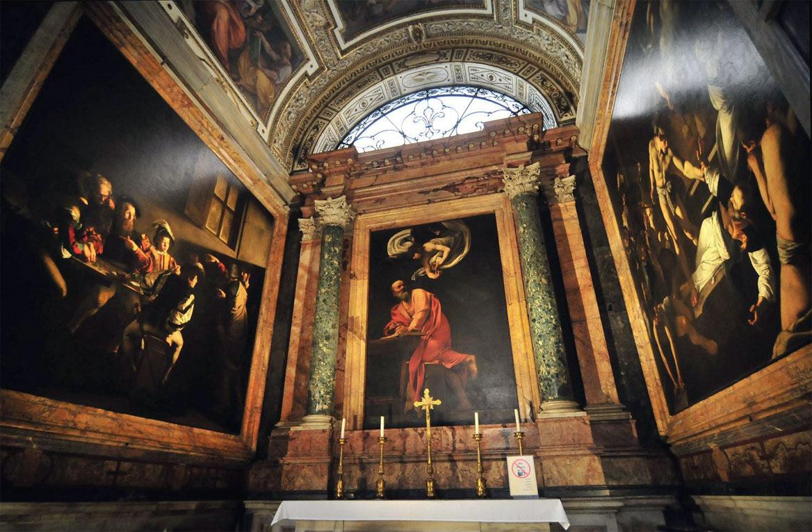 San Matteo e l'angelo - ciclo pittorico cappella Contarelli - Caravaggio