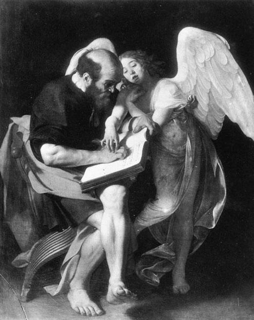 San Matteo e l'angelo - prima versione