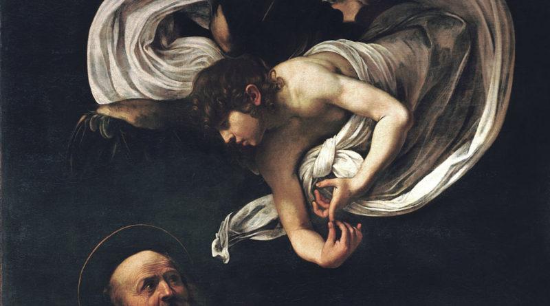 San Matteo e l'angelo - quadro - dettaglio - Angelo