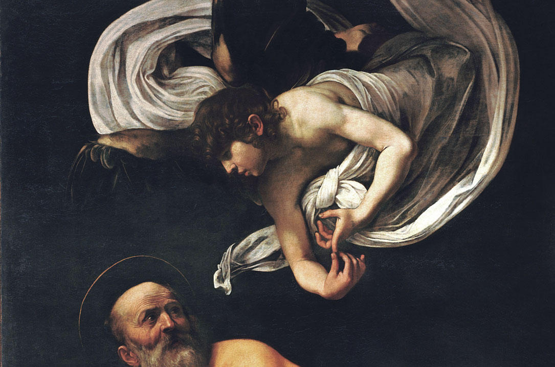 San Matteo e l'angelo - il dettaglio dell'Angelo