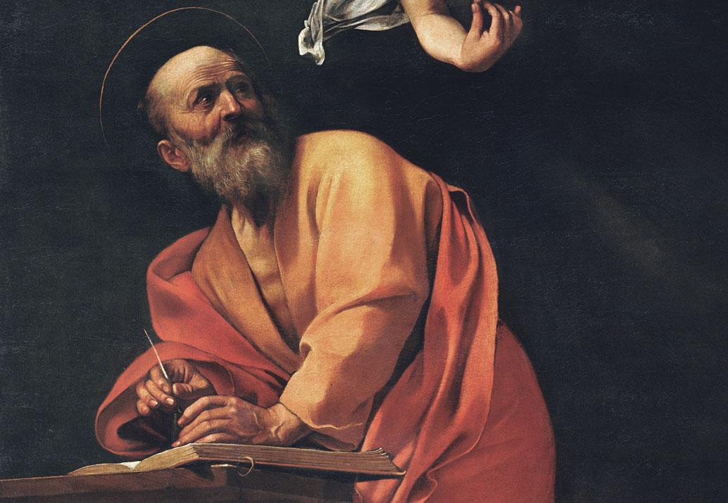 San Matteo e l'angelo - quadro - dettaglio - San Matteo