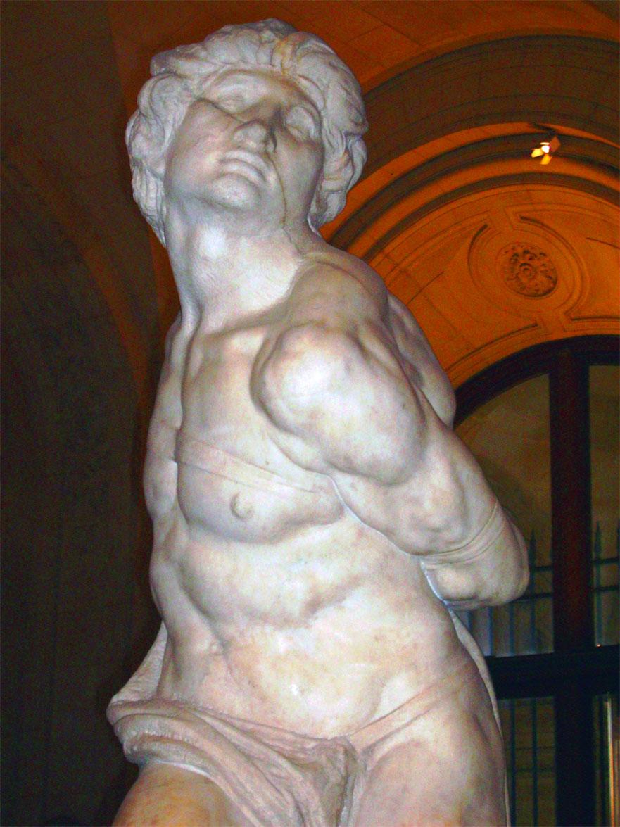 Schiavo Ribelle - dettaglio - Rebellious Slave - detail - Michelangelo