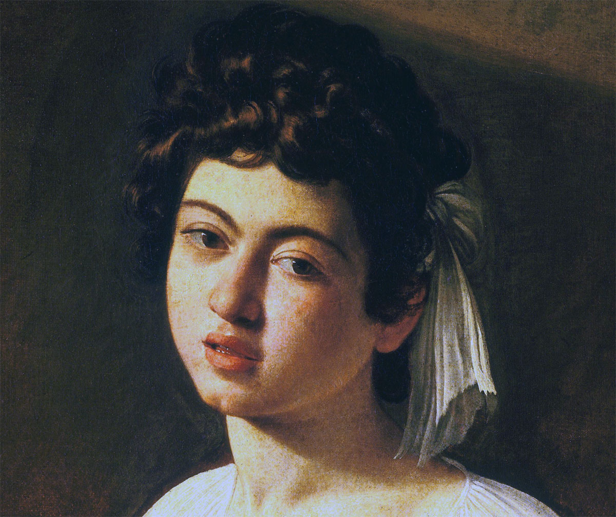 Suonatore di liuto - Caravaggio - dettaglio volto