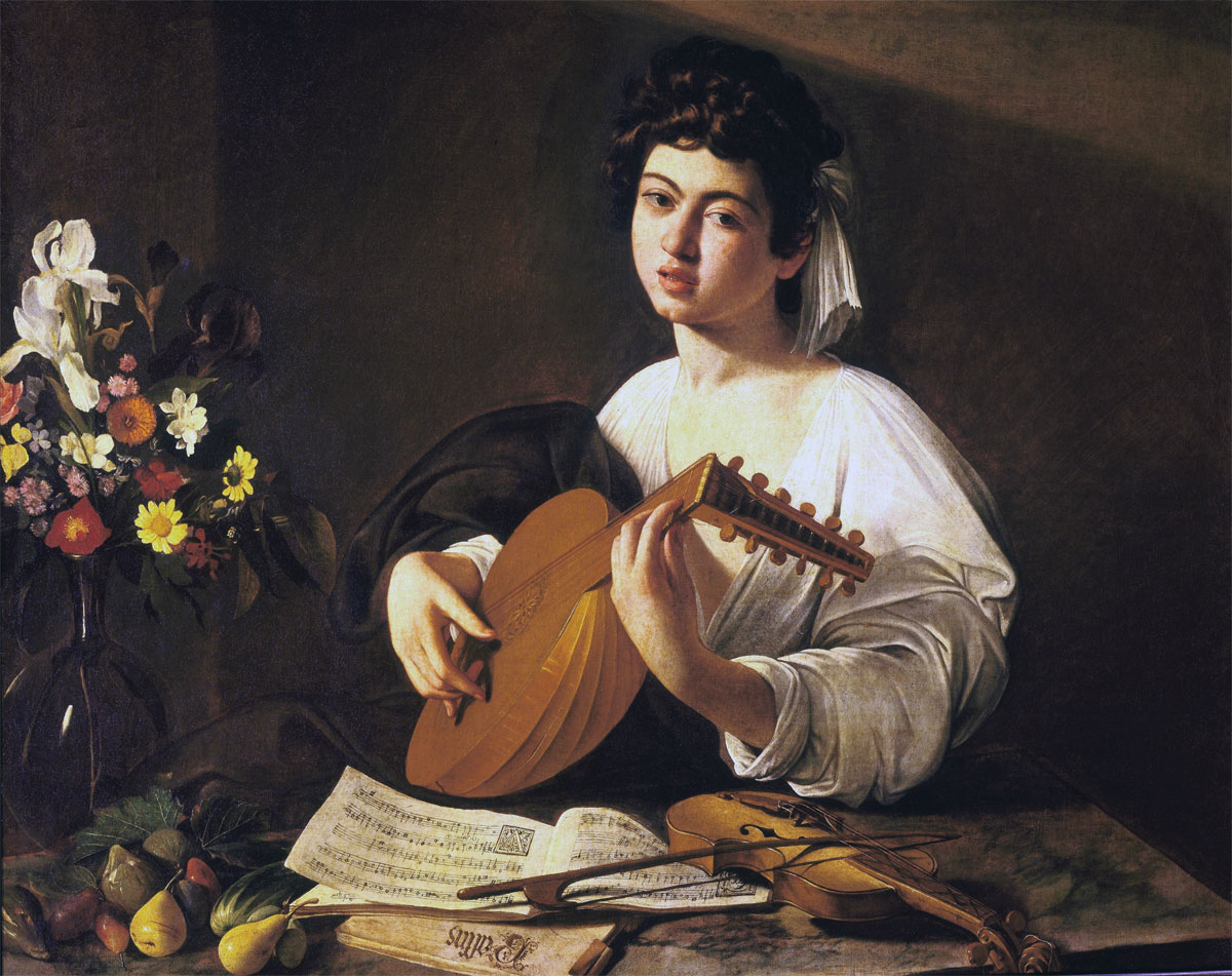 Suonatore di liuto - Lute player - Caravaggio - Ermitage
