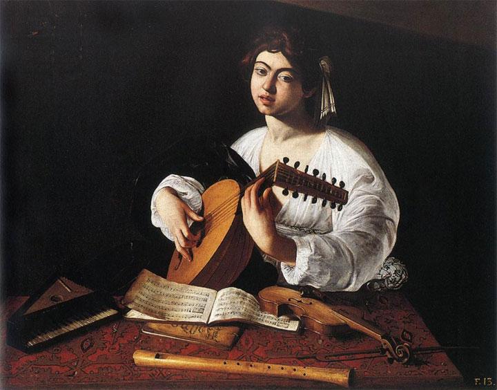 Suonatore di liuto di Caravaggio - la versione esposta a New York