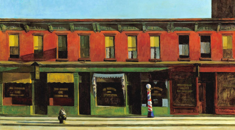 Early Sunday Morning - Domenica mattina presto - Hopper - 1930