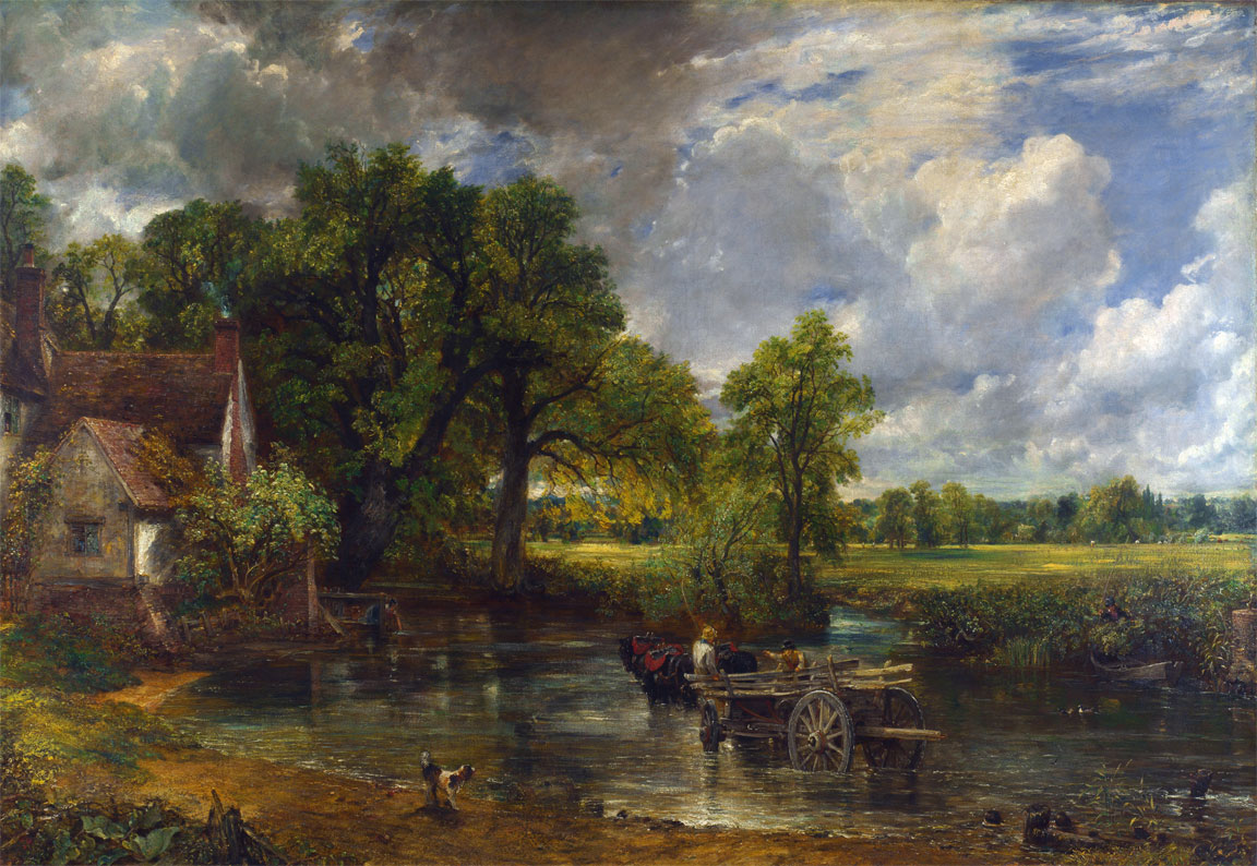 Il carro da fieno (The Hay Wain, John Constable, 1821)