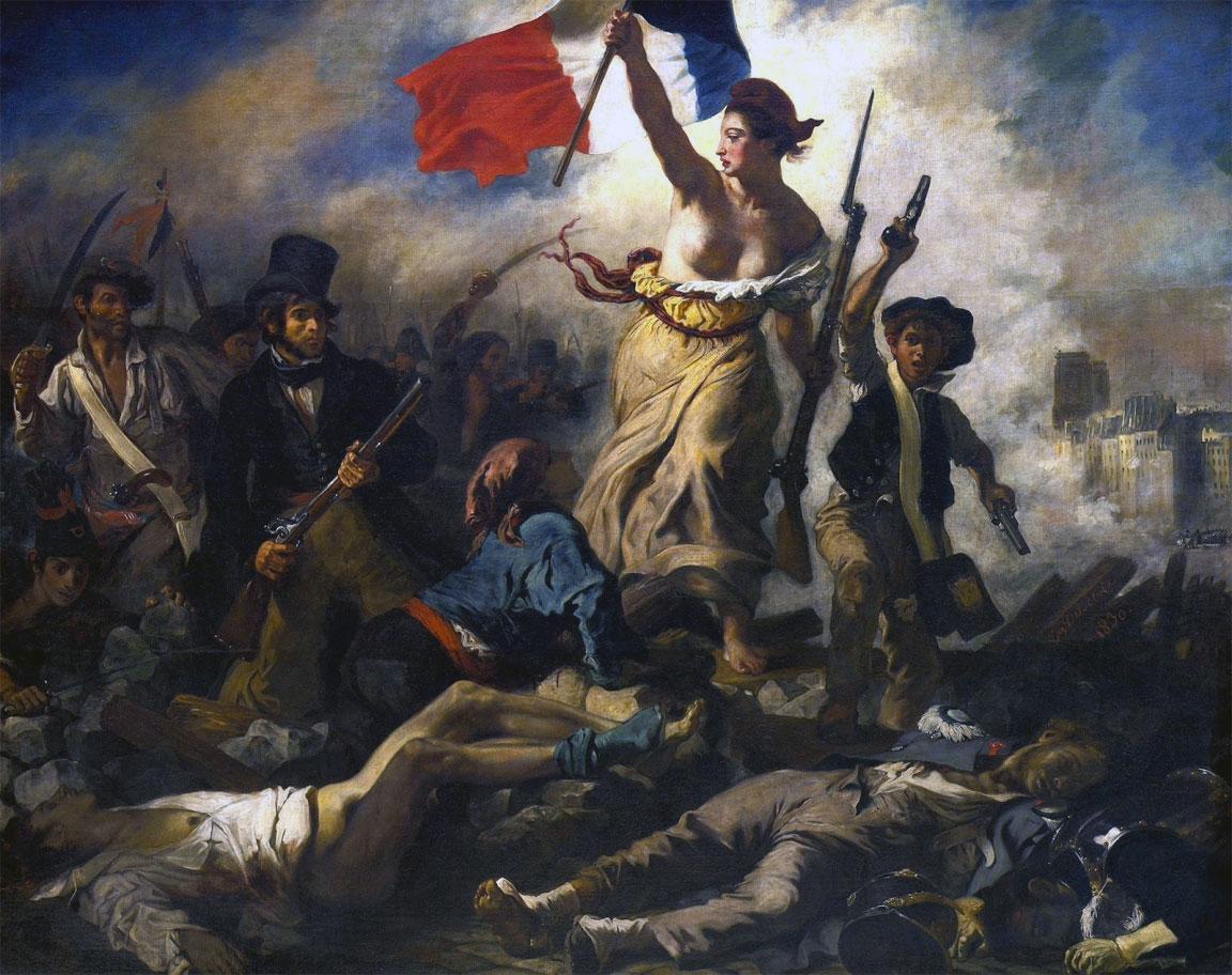La Libertà che guida il popolo - La Liberté guidant le peuple - Eugène Delacroix - 1830