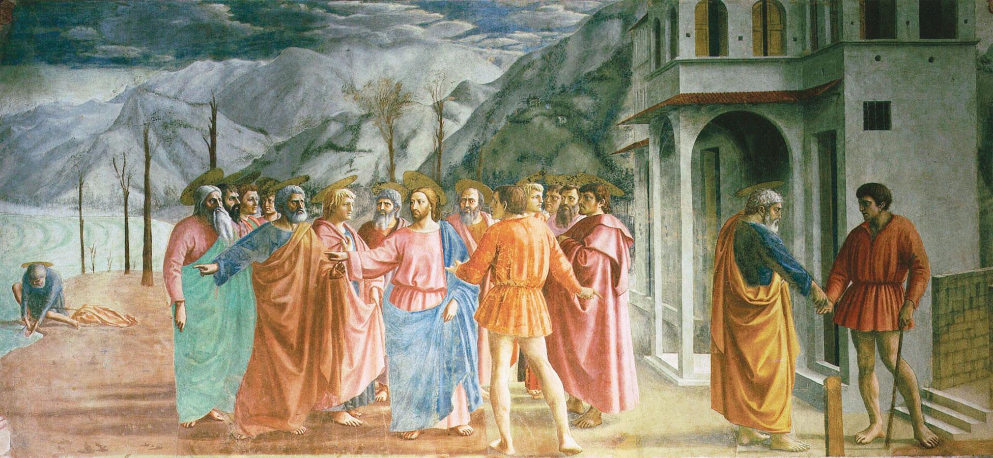 Pagamento del Tributo - Masaccio - Affresco