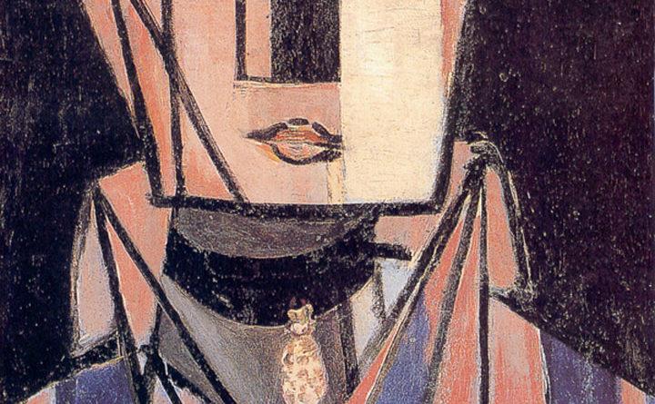 Testa bianca e rosa - Matisse - Tête blanche et rose - White and rose head
