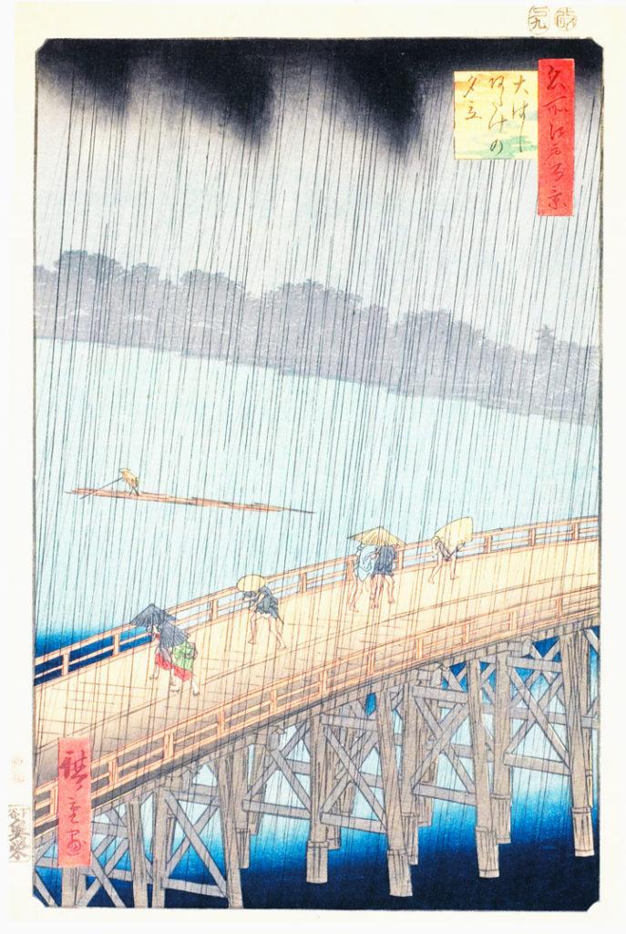 Acquazzone Improvviso Sul Ponte Ohashi Ad Atake - Hiroshige