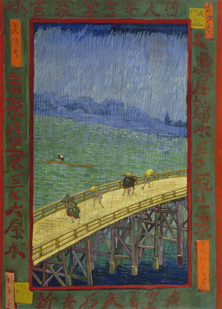 Acquazzone Improvviso Sul Ponte Ohashi Ad Atake - Hiroshige - copia di Van Gogh