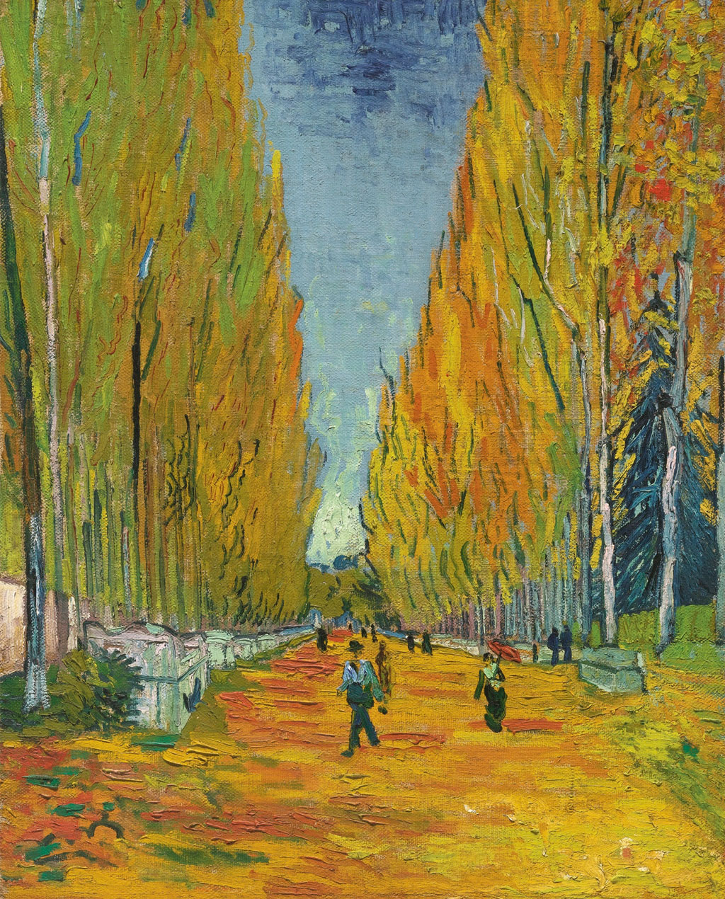 Les Alyscamps (I campi elisi), Van Gogh, 1888