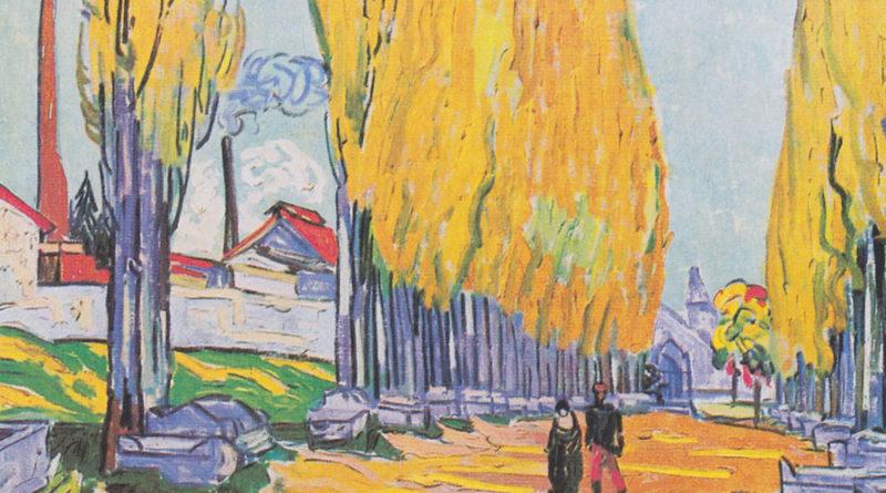 Alyscamps - Campi elisi - Van Gogh - versione 2