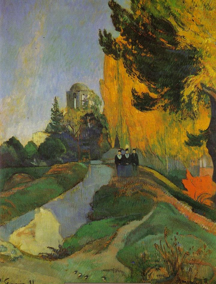 Veduta degli Alyscamps (Gauguin, 1888) • Campi elisi