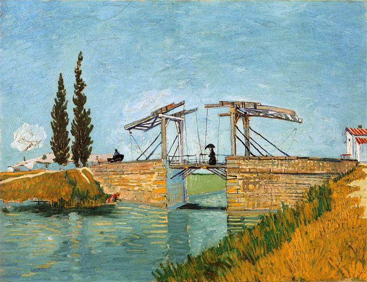 Ponte di Langlois ad Arles (Langlois Bridge at Arles) – Il ponte da un'altra veduta