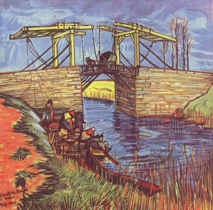 Un'altra versione del Ponte di Langlois, dipinto da Van Gogh