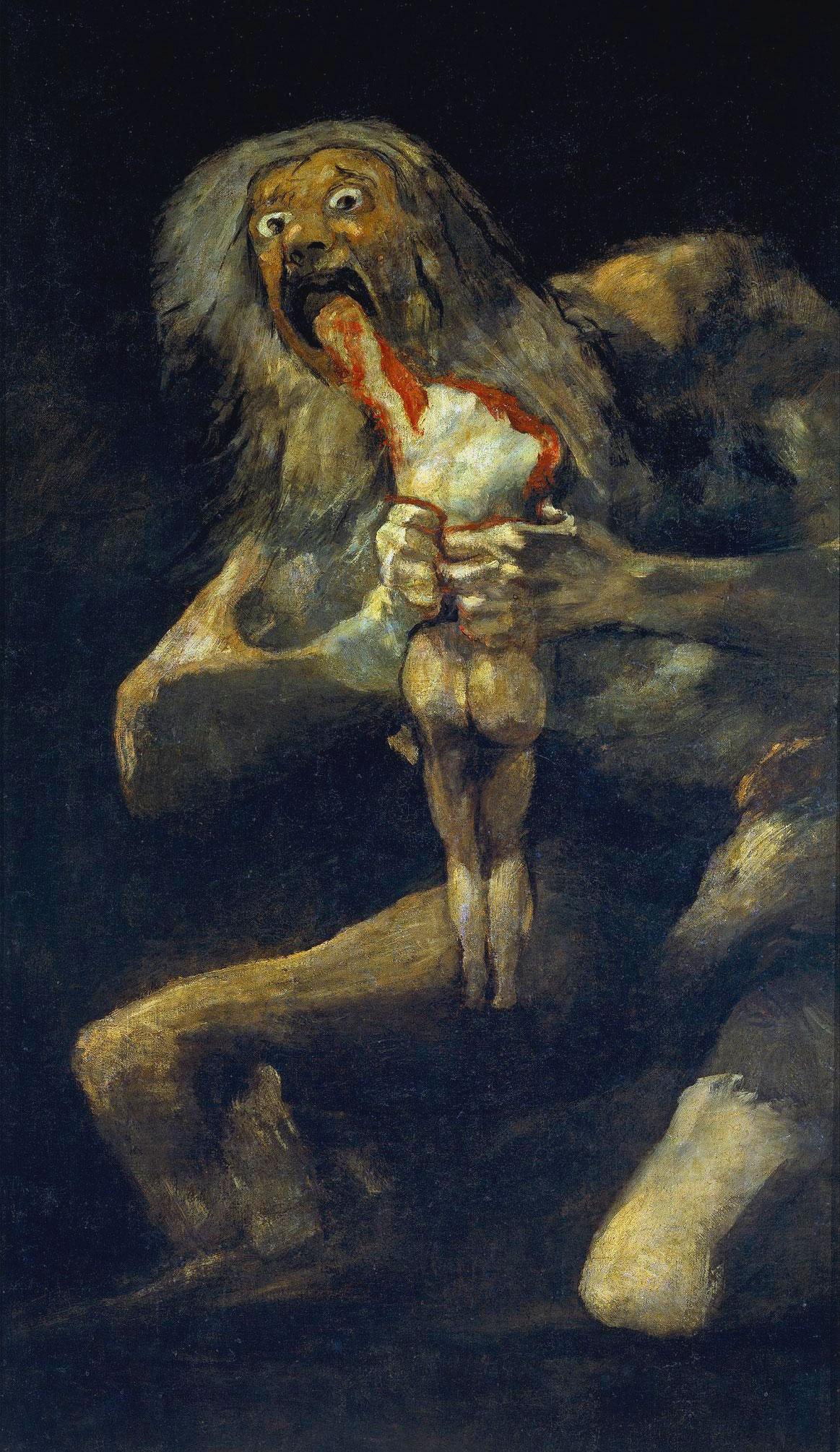 Saturno che divora i suoi figli – Francisco Goya