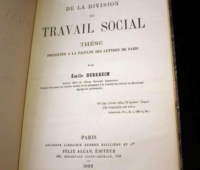 Sociologia - Durkheim - teoria - pensiero - filosofia