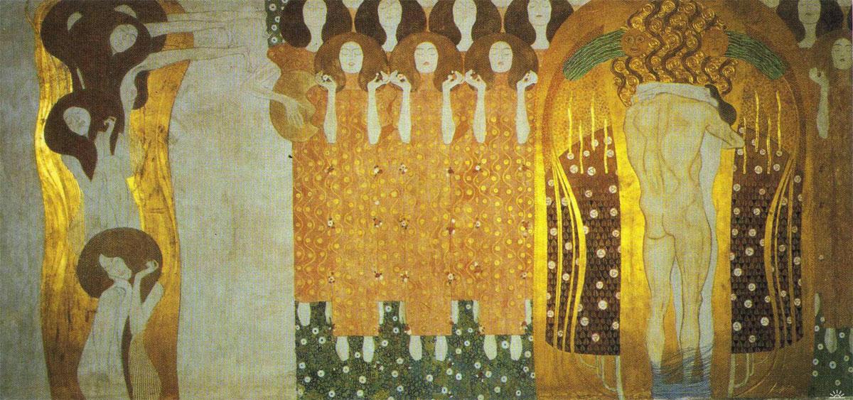 Anelito della felicità si placa nella poesia - The Longing for Happiness Finds Repose in Poetry - Klimt