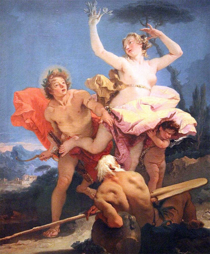 Apollo e Dafne - quadro Tiepolo