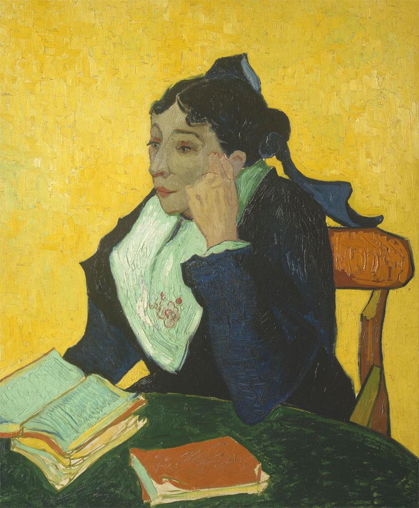 Arlesiana - Van Gogh - 1888 - Arlesienne - con libri