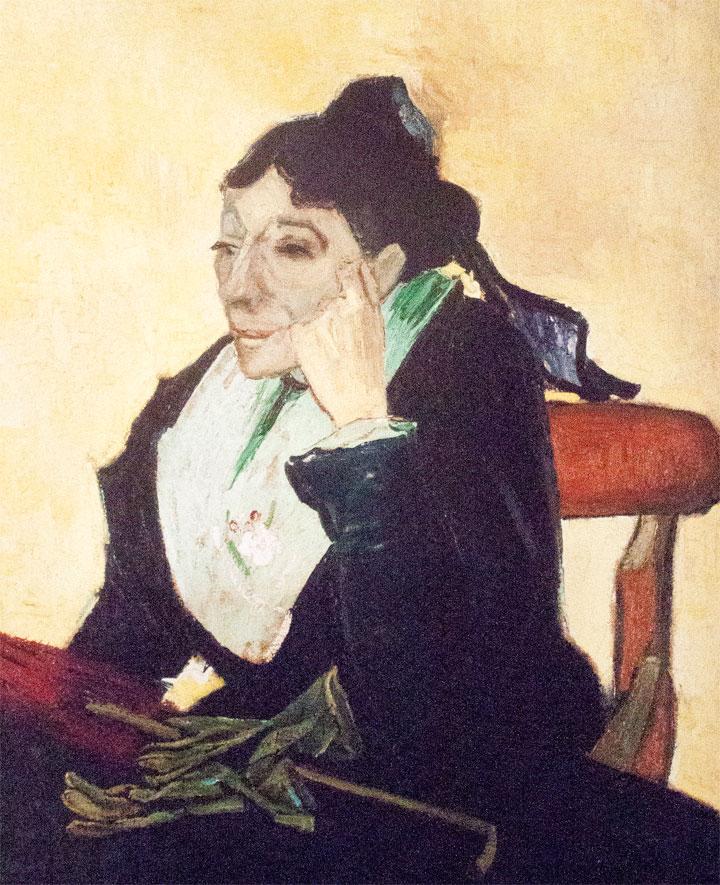Arlesiana - Van Gogh - 1888 - con guanti e ombrello
