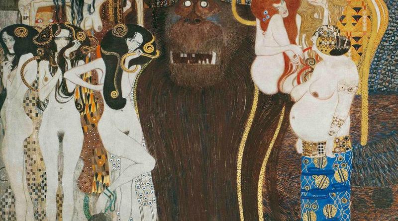 Fregio di Beethoven - Klimt - dettaglio