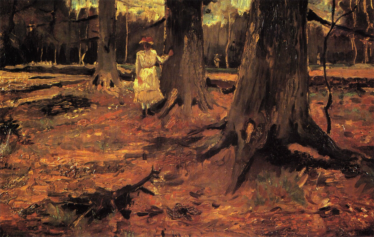 Ragazza in bianco in un bosco - Girl in White in the Woods - Van Gogh