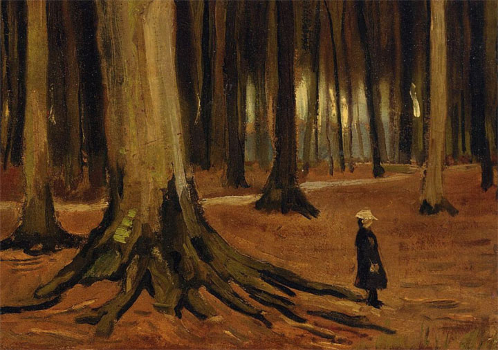 Ragazza in un bosco - Girl in the Woods - Van Gogh