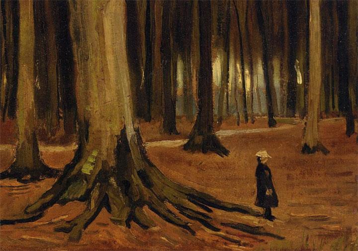 Ragazza in un bosco - Girl in the Woods - Van Gogh