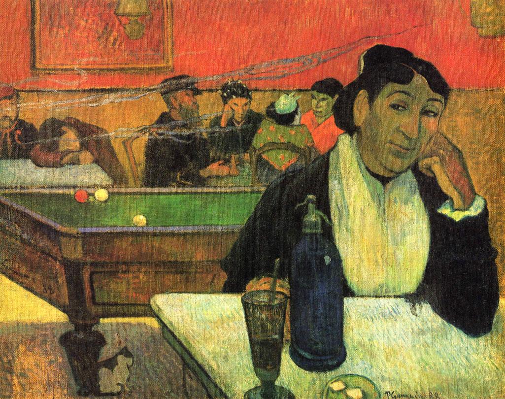 Caffè di notte ad Arles - Night Café ad Arles - Madame Ginoux - Gauguin - 1890
