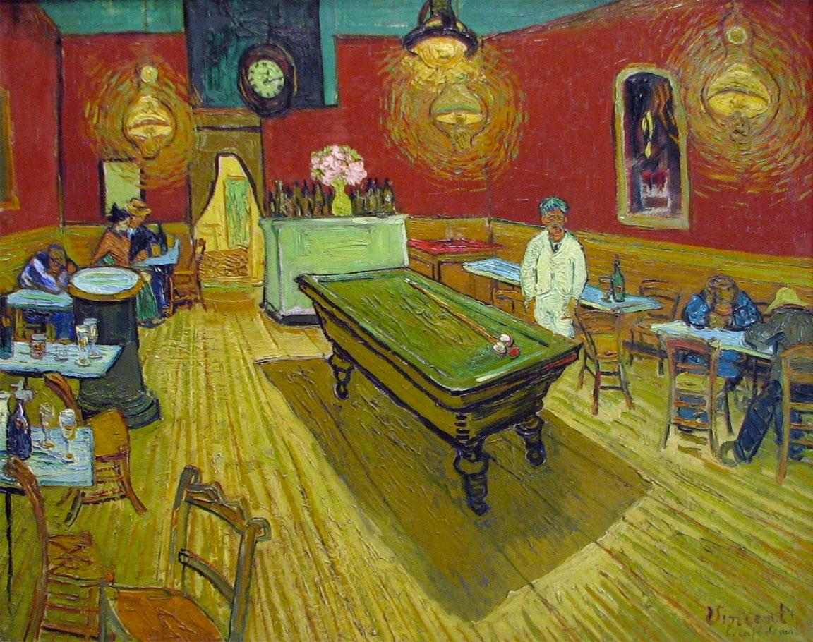 Il caffè di notte - Van Gogh - Interno di caffè di notte - Night Café - 1888