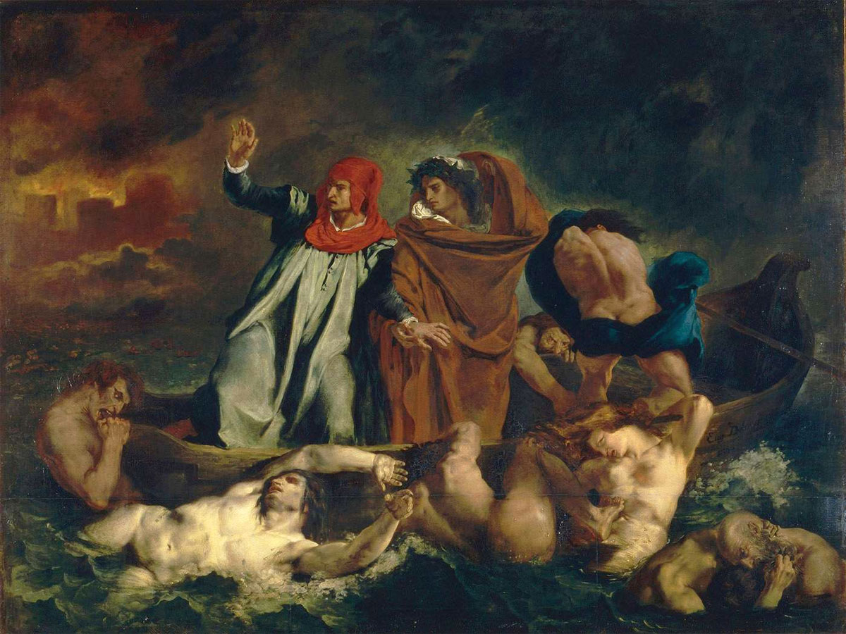 La barca di Dante - La Barque de Dante - Delacroix - 1822