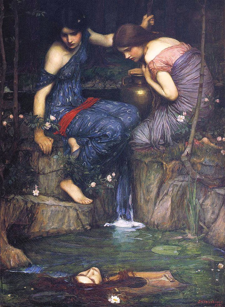 Le ninfe trovano la testa di Orfeo - John William Waterhouse - Nymphs finding the Head of Orpheus - 1900