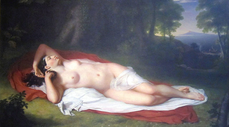 Arianna addormentata sull'isola di Nasso - 1809-1814 - John Vanderlyn