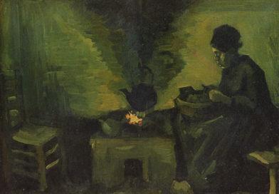 Contadina accanto al focolare, quadro di Van Gogh
