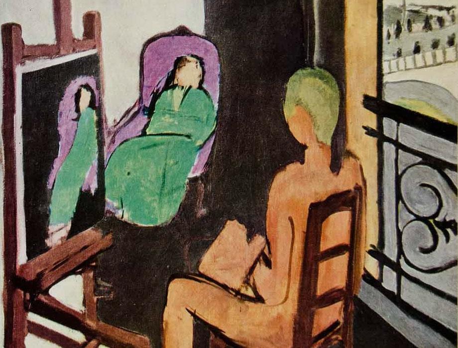 Il pittore e la modella - Matisse - dettaglio
