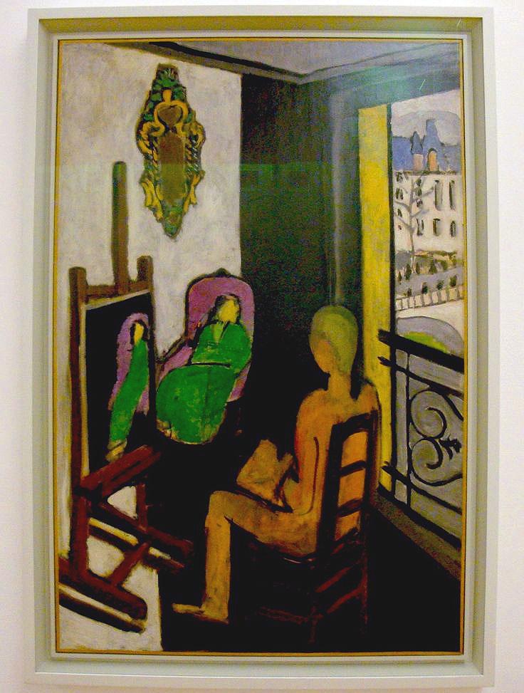 Il pittore e la modella - Matisse - quadro