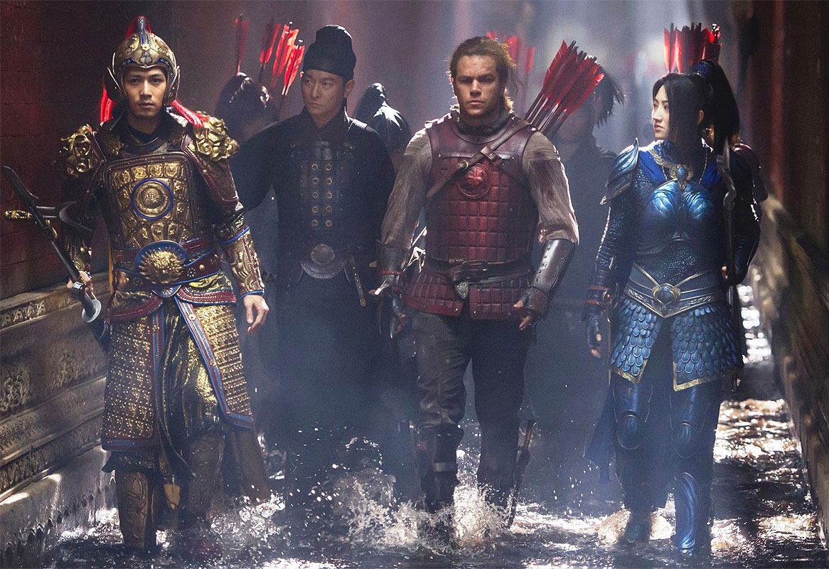 The Great Wall - Matt Damon - scena film